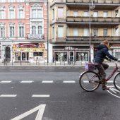 Radwege entlang der Karl-Marx Straße
